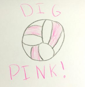 Addison the Amazing Artist Dig Pink signature