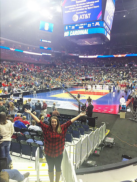 Eleanor at NCAA volleyball finals
