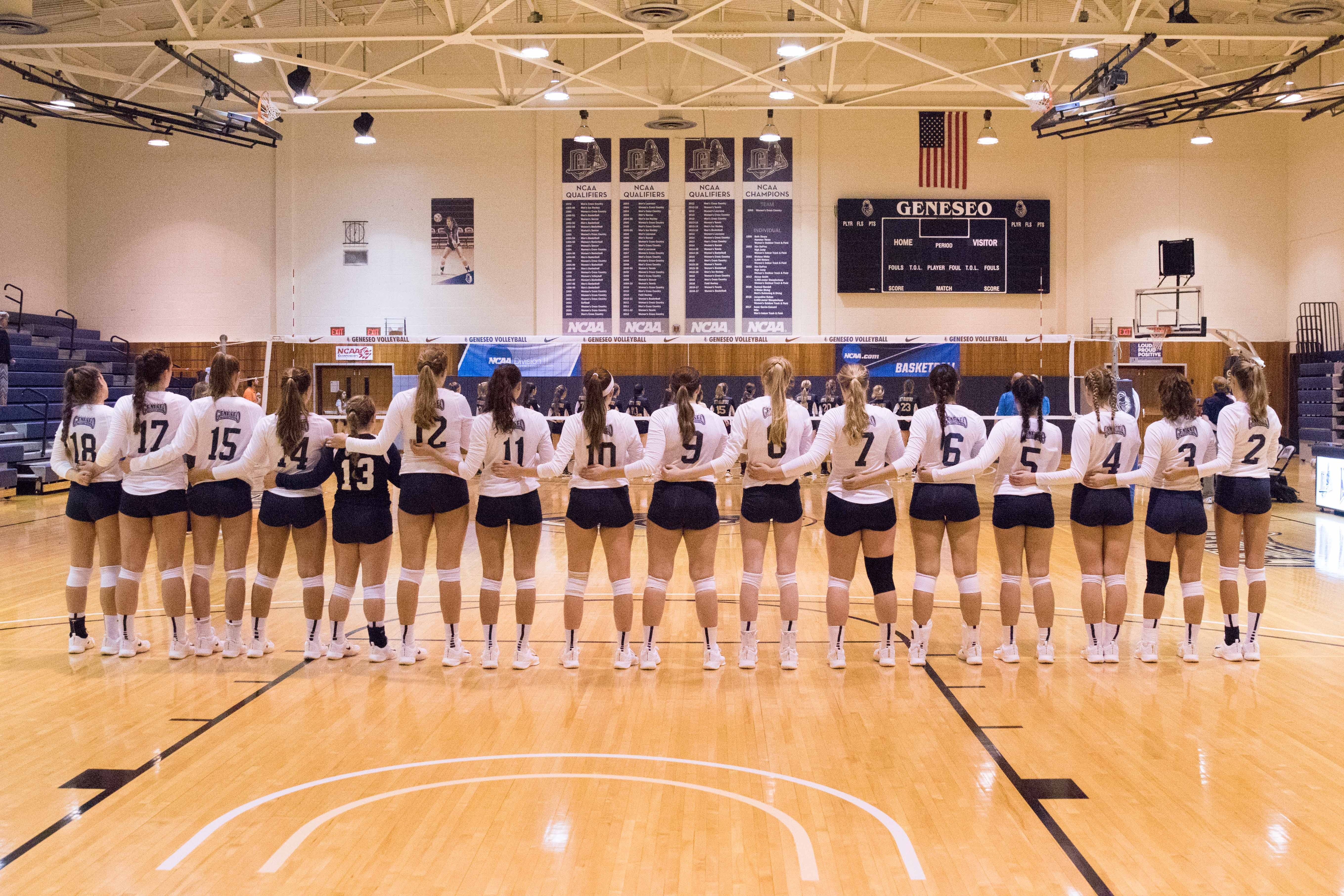 Suny at Geneseo Women's Volleyball Team line up