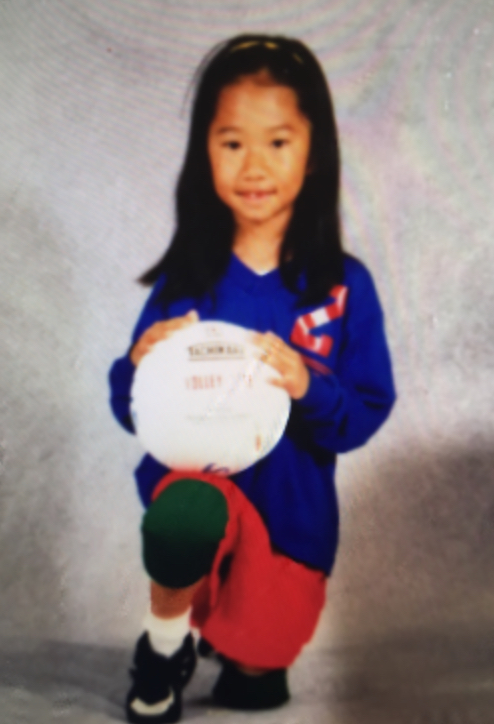 Esther Hon in her first year of volleyball