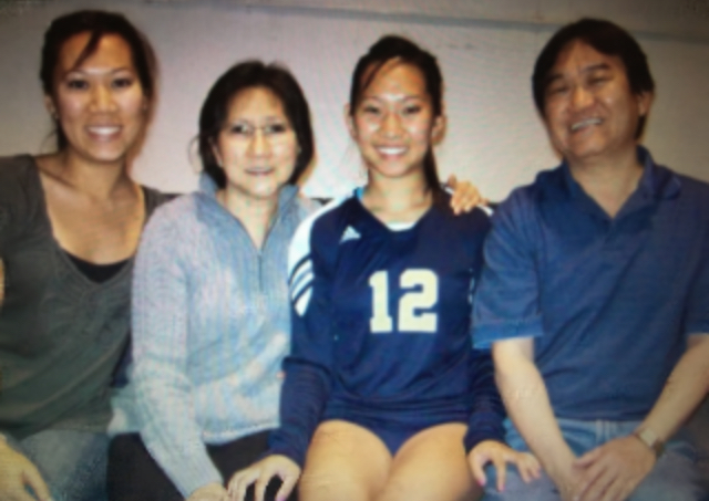 Esther Hon with her family
