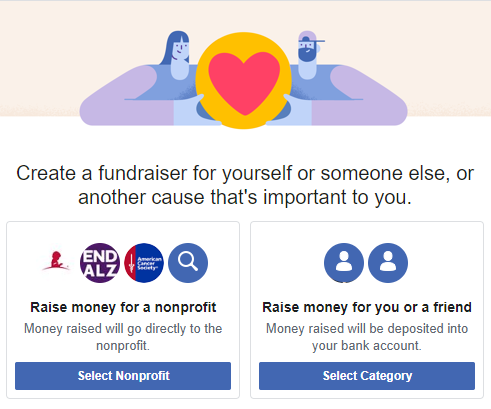 Support with Facebook fundraisers