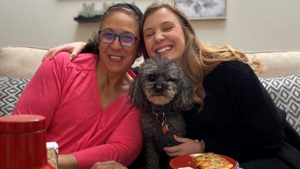 Carmen's sister Tatiana with Carmen's mom