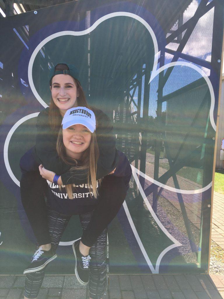 Gabby Huff and her friend freshman year at Mercyhurst