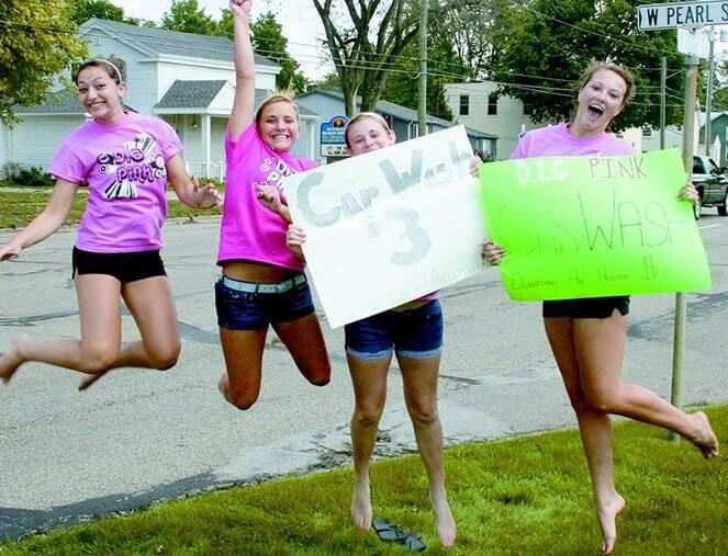 Coldwater High School Dig Pink Car Wash 2010