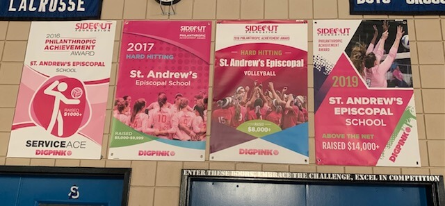 St Andrews Austin Dig Pink Banners