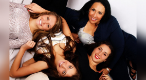 Carmen (bottom right), her mother (upper right), and her two sisters