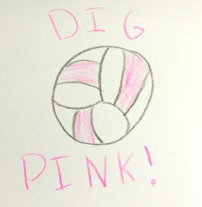 Addison the Amazing Artist Dig Pink signature