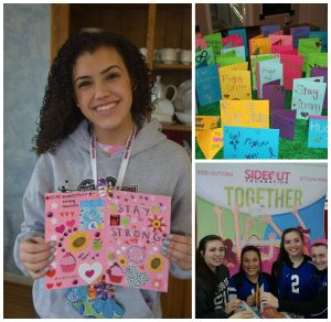 perfect assist volleyball clubs make cards for patients