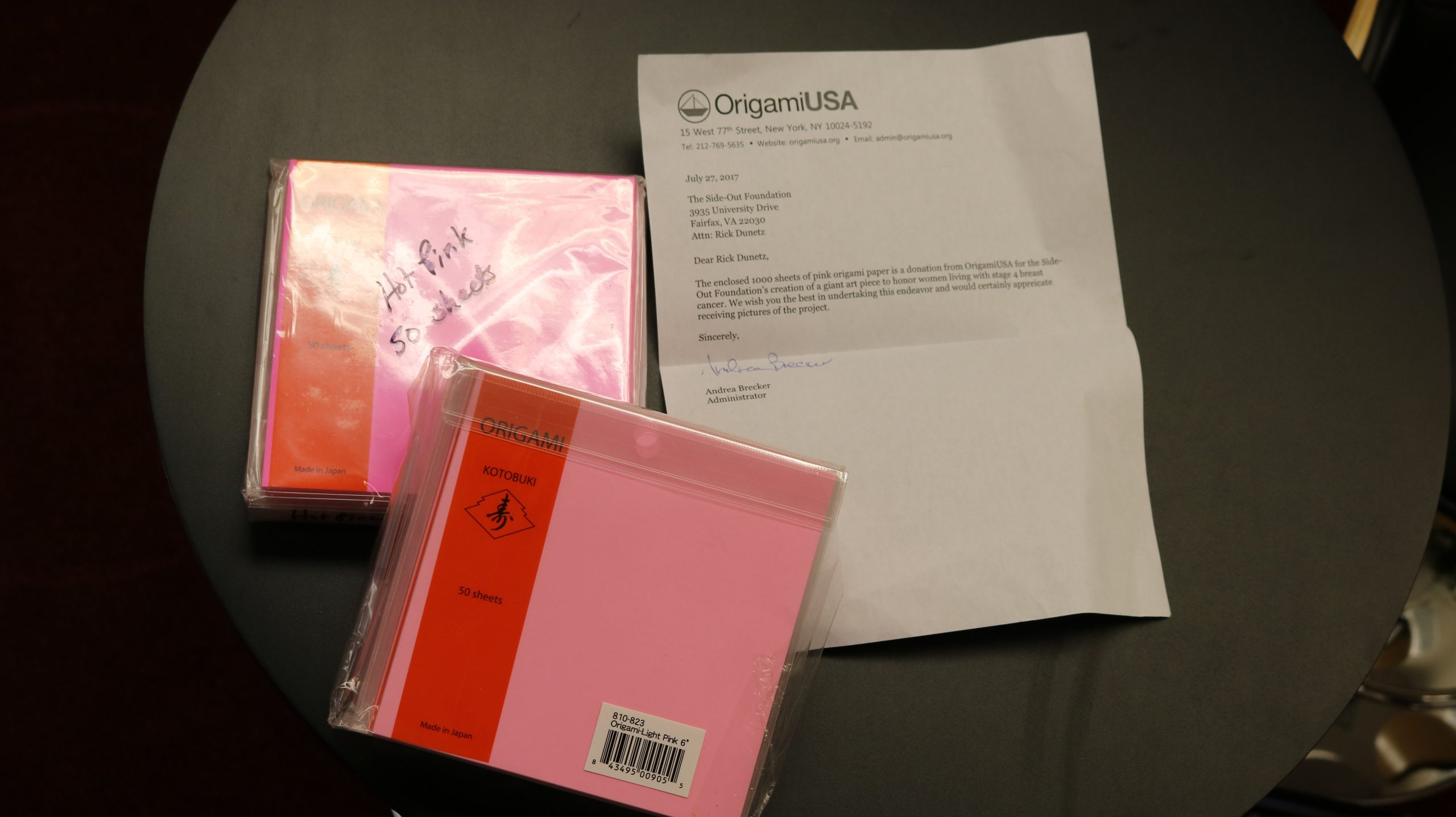 OrigamiUSA Note and Paper