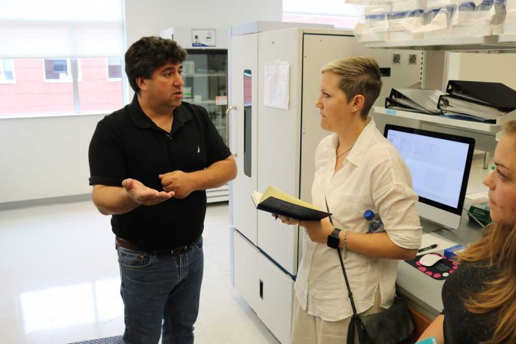 Lyndsay Hodge at Research Facility