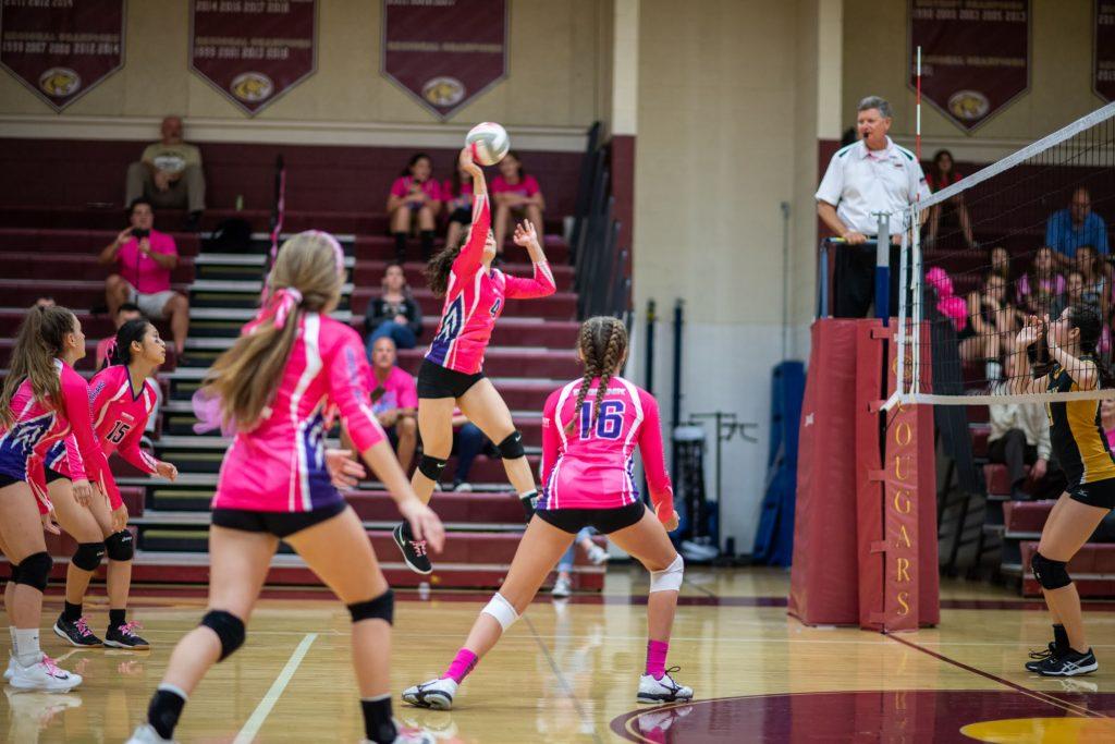 fundraising ideas - Oakton High School Volleyball Action Shot