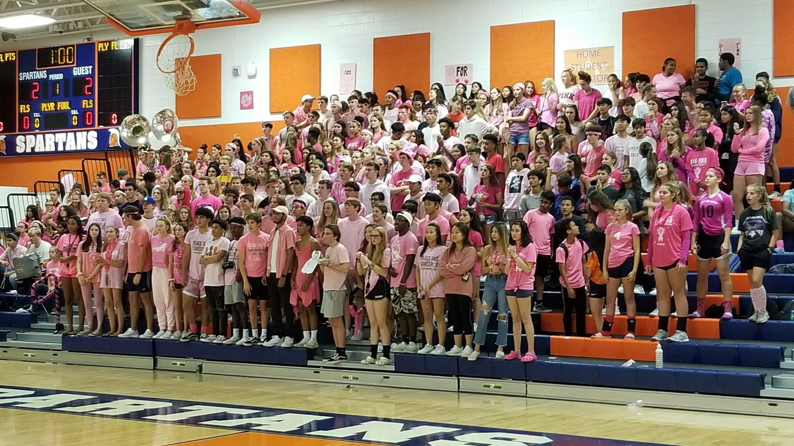 Fan section at West Springfield High School