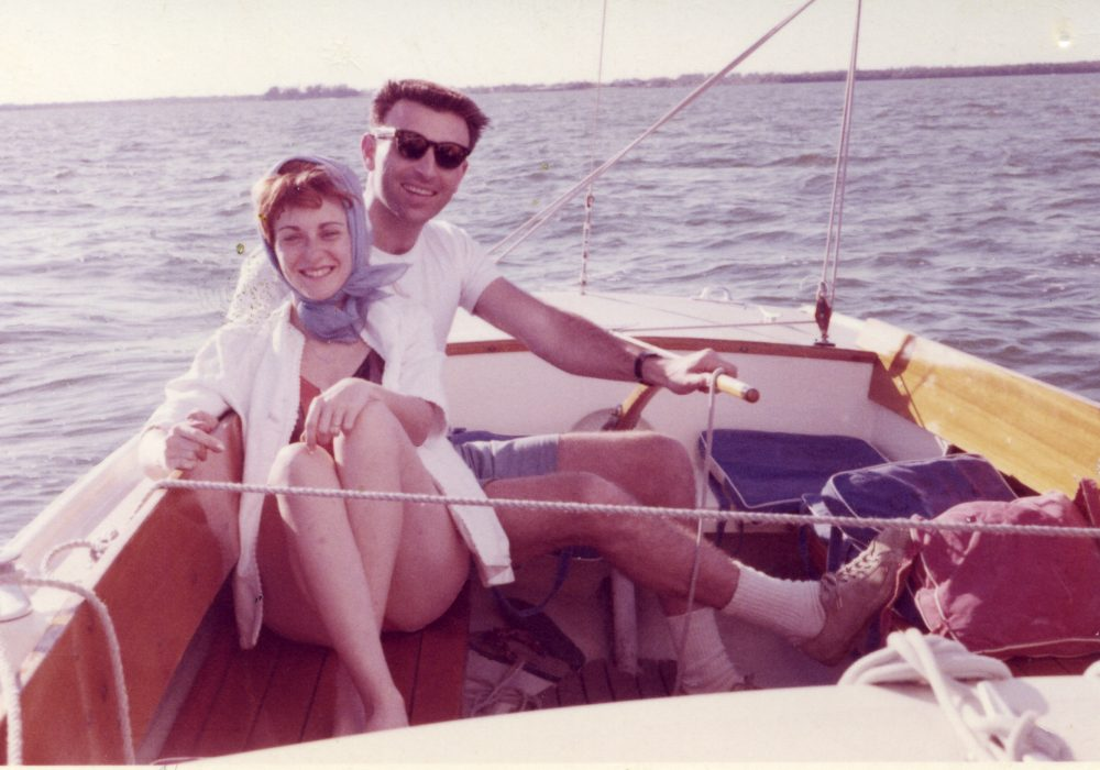 Mom and Dad on Boat